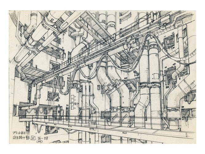 <p>Concept design for Ghost in the Shell 2: Innocence (2004), Pencil on paper. Illustrator: Takashi Watabe</p>