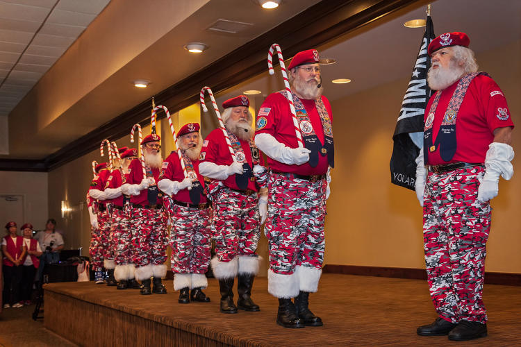 <p>Santa Drill Team, Santa Celebration. Tampa, Florida 2013</p>