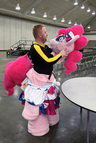 <p>Inside Pinkie Pie, Bronycon. Baltimore, Maryland 2015</p>