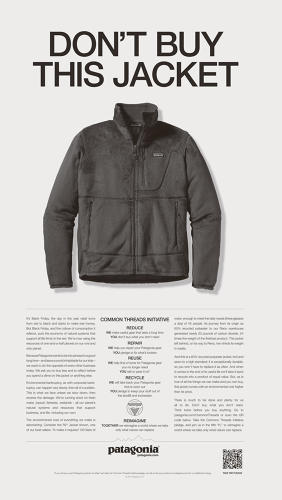 "<p>""Don't Buy This Jacket"" ad</p>"