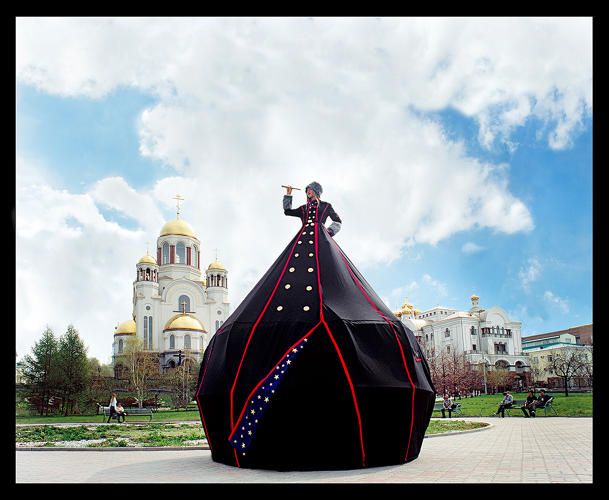 <p><em>Ms.Yekaterinburg: Camera Obscura Dress Tent</em> (Installed at Church on the Blood, Yekaterinburg, Russia), 2011.</p>