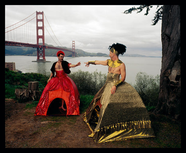 <p><em>Cross Dress Tents (Installed at Fort Point, San Francisco, CA)</em>, 2005.</p>