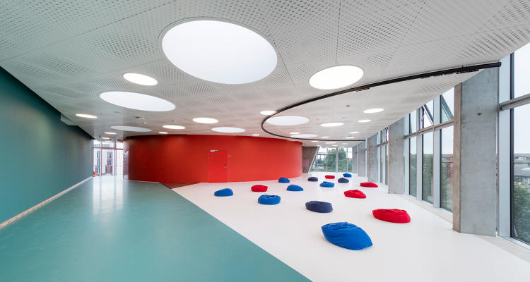 <p>As you wander through, it's possible to see what's happening on other floors, and those views are designed to keep you trying new ways to exercise.</p>