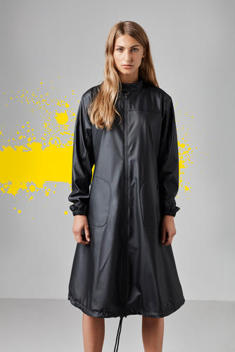 <p>The hem on this dress is longer in front to protect riders' knees and thighs.</p>