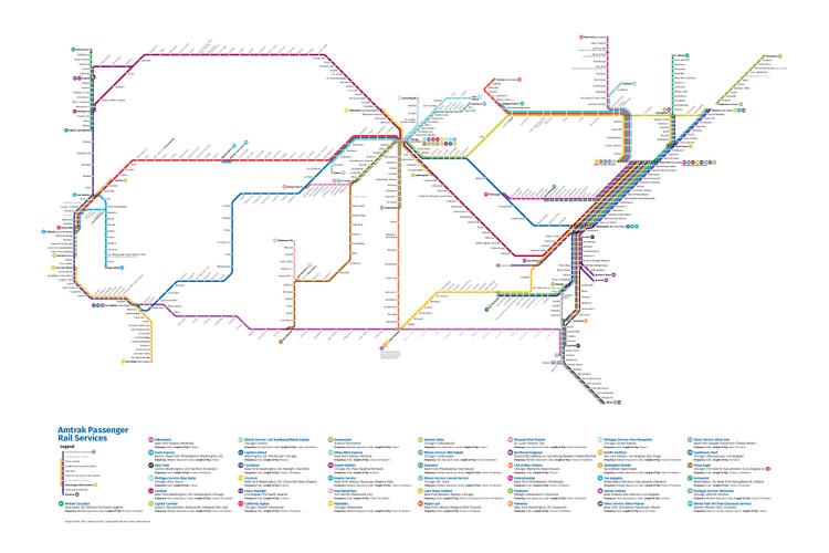 <p>With the redesigned map, it's possible to imagine the train as a viable option for travel in the rest of the country . . .</p>