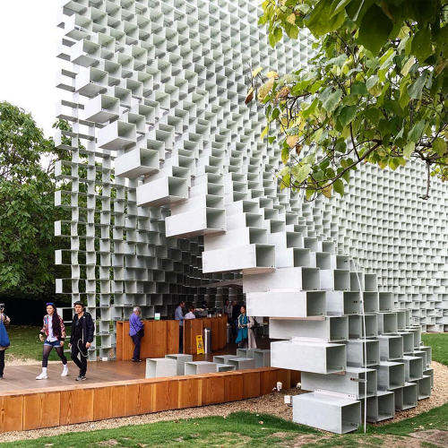 <p>The Serpentine Pavilion by Bjarke Ingels is like walking into a life-size Lego building.</p>
