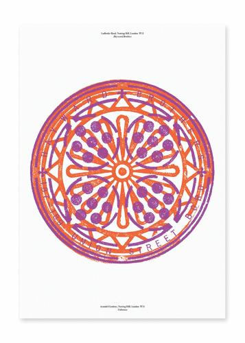 <p>For LDF, Pentagram partner Marina Willer produced <a href=&quot;https://overlooked-shop.com/&quot; target=&quot;_blank&quot;>limited-edition prints</a> of her &quot;Overlooked&quot; manhole rubbings.</p>