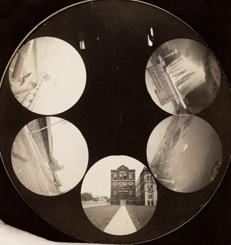 <p>The six-shooter exposure of a Stirn Concealed Vest Camera. Unknown maker, American. <em>Rochester, New York</em>, 1886.</p>