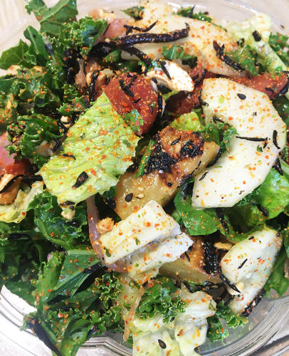 <p>Fresh&amp;Co will launch a collard green wrap, chef's choice salad, and a grain bowl with the tomato sushi.</p>