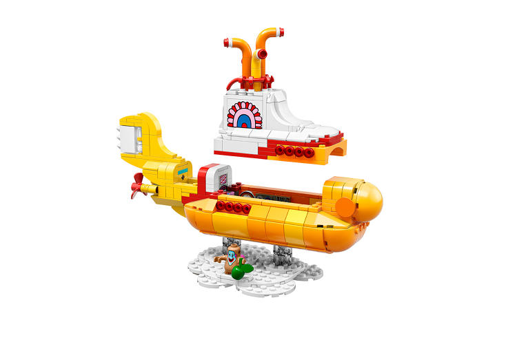 <p>The Beatles' yellow submarine, based on the trippy 1968 animated film</p>