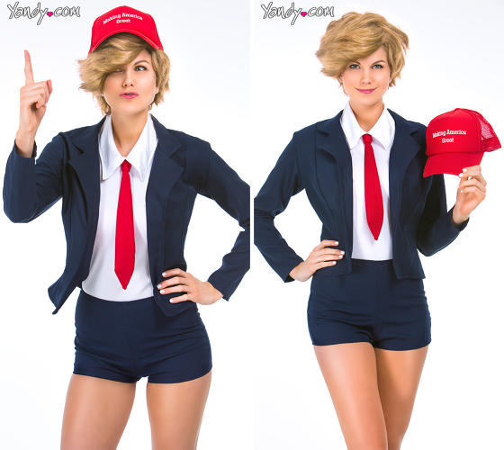 <p>If nothing else, <a href=&quot;http://www.yandy.com/Donna-T.-Rumpshaker-Costume.php&quot; target=&quot;_blank&quot;>Sexy Donald Trump</a> forces conservatives and liberals to consider whether Trump perhaps engages in Trump-themed cosplay in the bedroom.</p>
