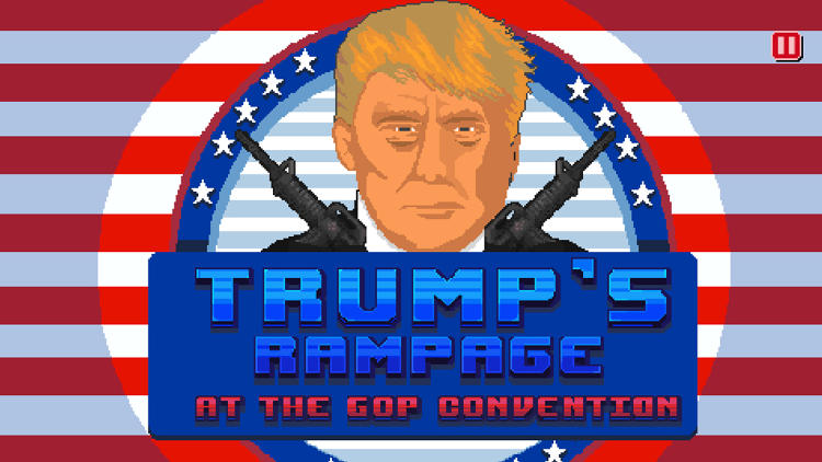 <p><a href=&quot;http://www.thegoparcade.com/game/trumps-convention-rampage&quot; target=&quot;_blank&quot;>Trump's Convention Rampage</a></p>