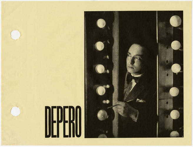 <p>In an early example of artist self-promotion, Depero printed around 1,000 copies to disseminate among art collectors and potential clients.</p>