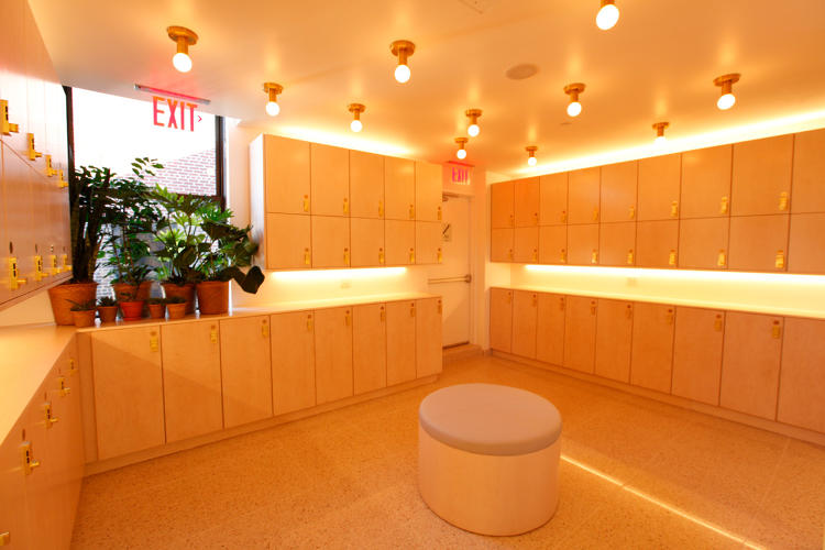 <p>The Wing's locker room gives members a place to store their stuff while dashing about town.</p>