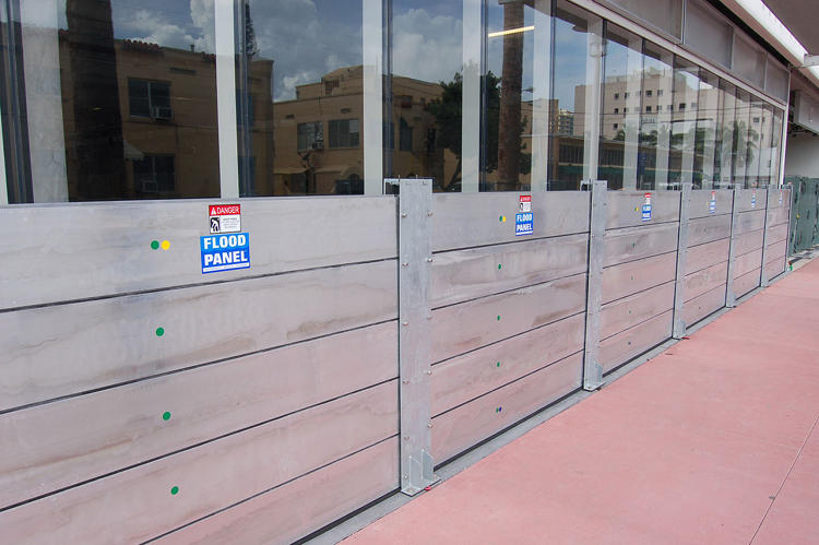 <p>Some other RISE projects help with building upgrades, like these flood protection panels.</p>