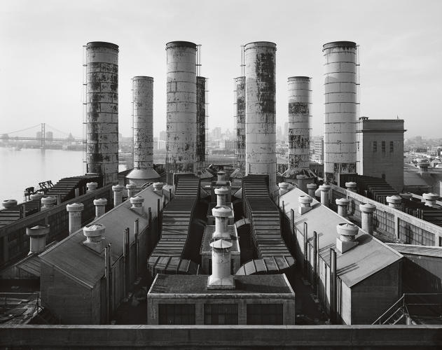 <p>Delaware Station, view looking southwest across roof of the Boiler Houses.</p>