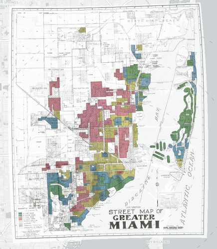 <p>A new interactive map shows the historical maps in 150 cities, with 5,000 often disturbing area descriptions.</p>