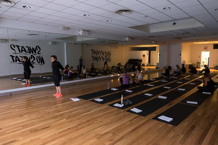 <p>At Bandier's third-floor studio, Innovation Festival attendees prepare to seriously sweat.</p>