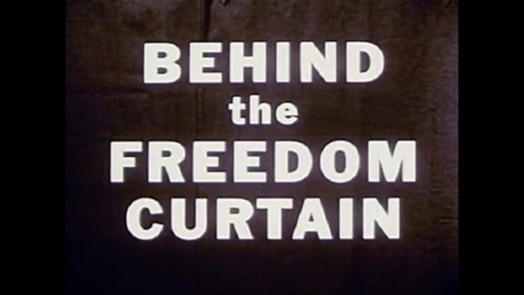 <p>Automatic Voting Machine Corporation, <em>Behind the Freedom Curtain</em>, 1957.</p>