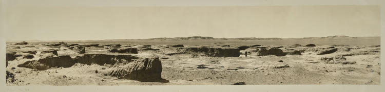 <p>Panoramic views of the Gobi Desert taken during one of Roy Chapman Andrews's Central Asiatic expeditions in the 1920s</p>