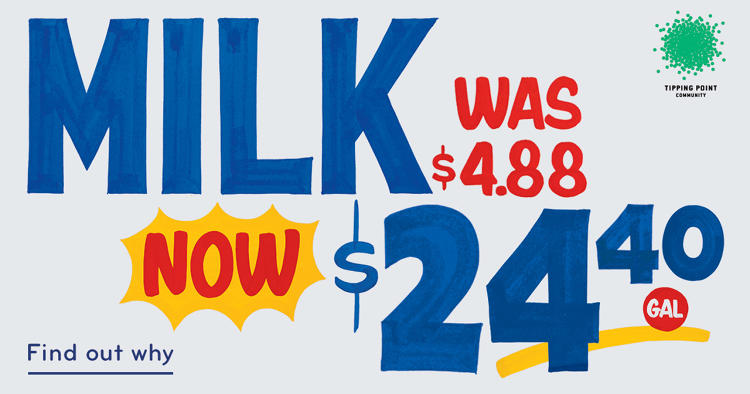 <p>If you're making the average salary in the city--$150,000--the equivalent would be paying $23.51 for the same gallon of milk.</p>