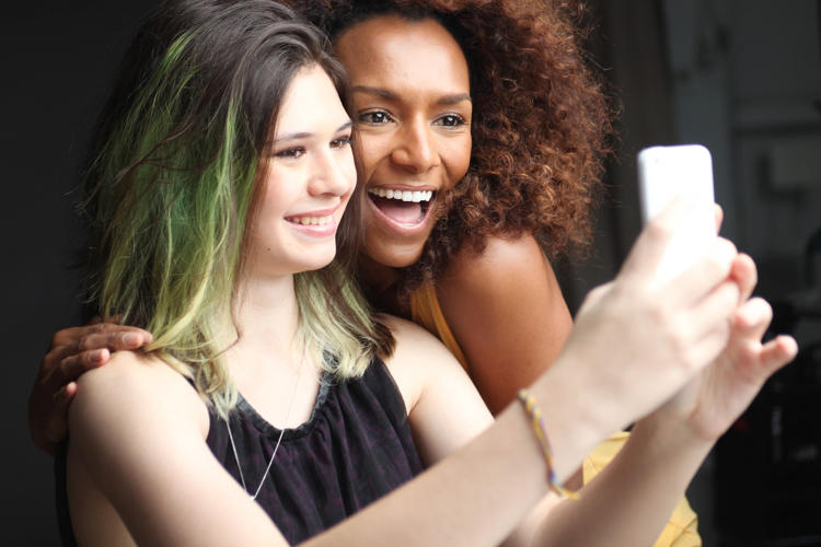 <p><strong>Nicole Maines</strong>, and <strong>Janet Mock</strong> on the set of <em>The Trans List</em>.</p>