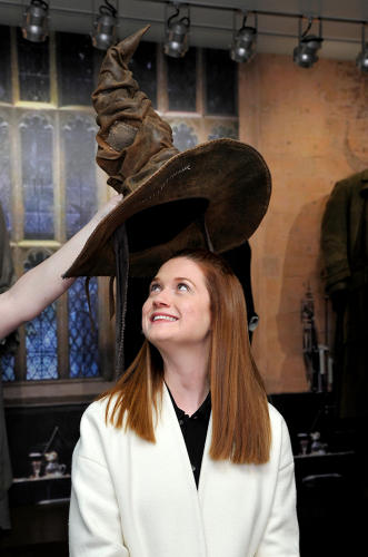 <p>Bonnie Wright (<em>Harry Potter's</em> Ginny Weasley) appeared at the exhibit's media sneak peak.</p>