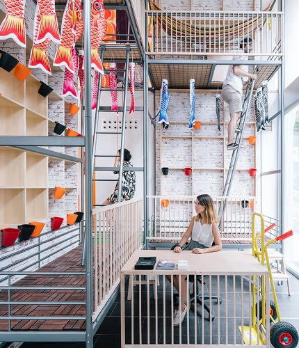 <p>The Spanish architecture firm <a href=&quot;http://izaskunchinchilla.es/&quot; target=&quot;_blank&quot;>Izaskun Chinchilla</a> designed a coworking space in Spain with hacked Ikea furniture.</p>