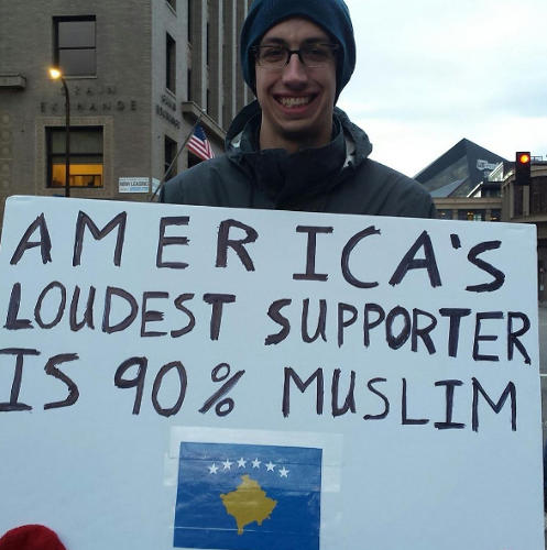 <p>The feed also unites protestors from around the country--and the world. This one is from Minnesota.</p>
