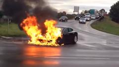 This Is A Tesla Model S, And It's On Fire