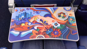 The Next Frontier For Public Art? Airline Tray Tables