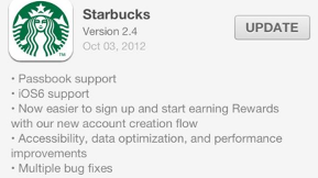 Passbook Adds More Big Names To Its Roster As Starbucks Joins The Club
