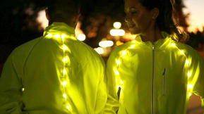 Shine Bright In The Night, With This LED-Infused Cycling Jacket