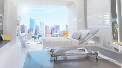 The Hospital Room Of The Future: Flexible, Media Rich, Very Shiny [Slideshow]