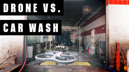 Drone Vs. Car Wash: Watch A Wet And Wild Face-Off